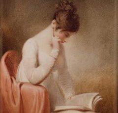 Regency girl reading